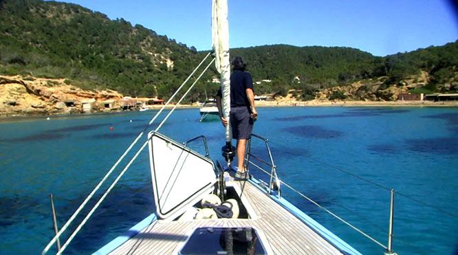 Fondeando en Ibiza
